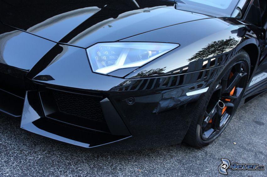 Lamborghini Aventador, strålkastare, frontgaller, hjul