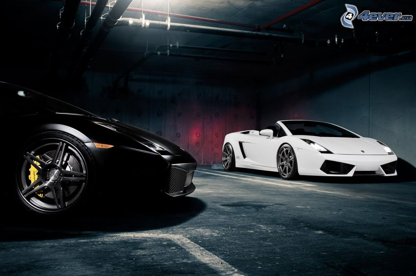 Lamborghini Gallardo Spyder, cabriolet, garage