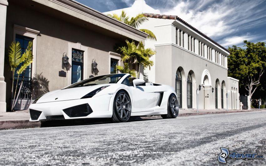 Lamborghini Gallardo Spyder, cabriolet, hus