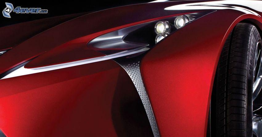 Lexus, strålkastare, hjul
