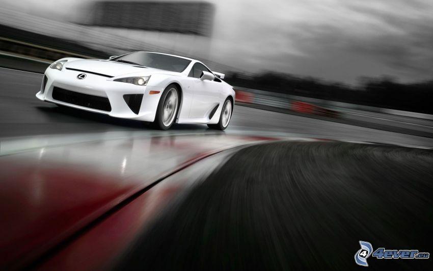 Lexus LFA, kurva, fart