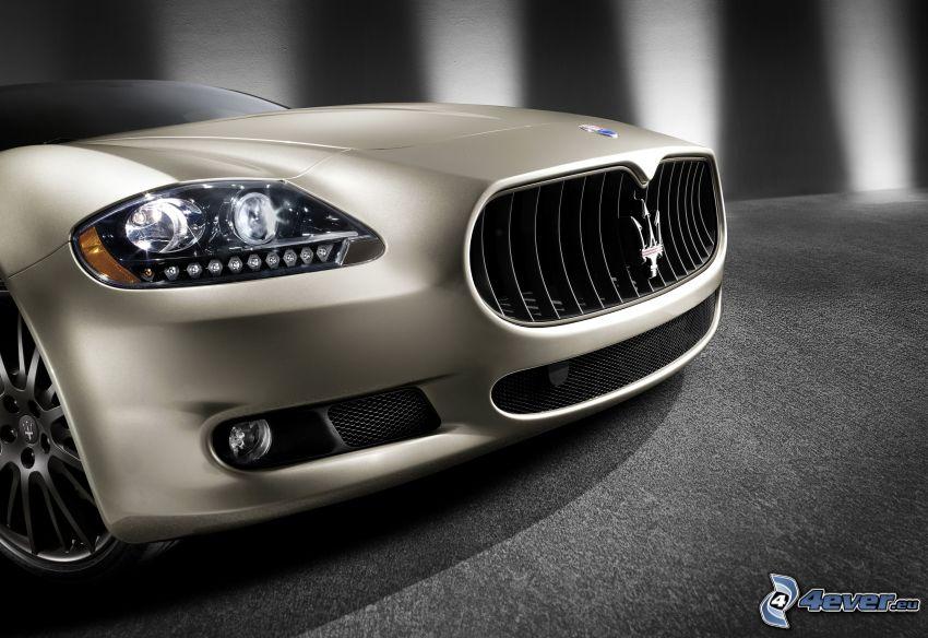Maserati Quattroporte, frontgaller, strålkastare