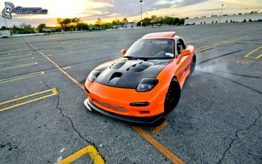 Mazda RX7, drifting