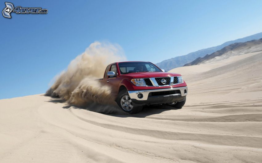 Nissan Frontier, sand, damm