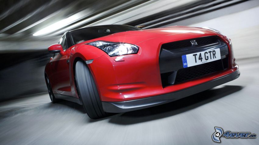Nissan GT-R, frontgaller, hjul, fart