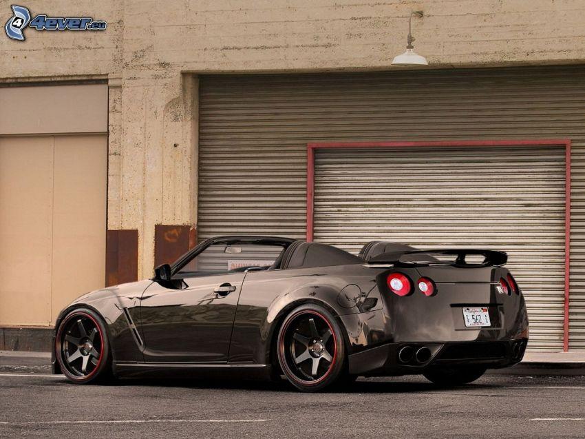 Nissan GTR, cabriolet, sportbil, garage