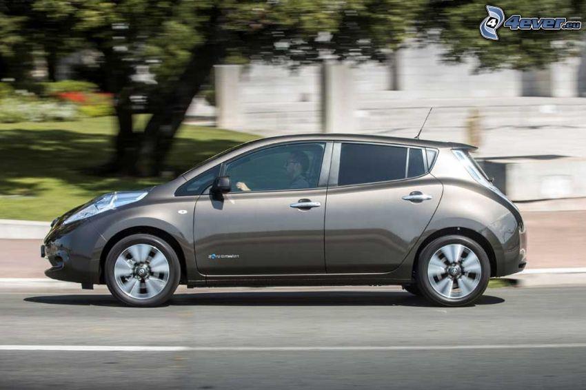 Nissan Leaf, väg, fart