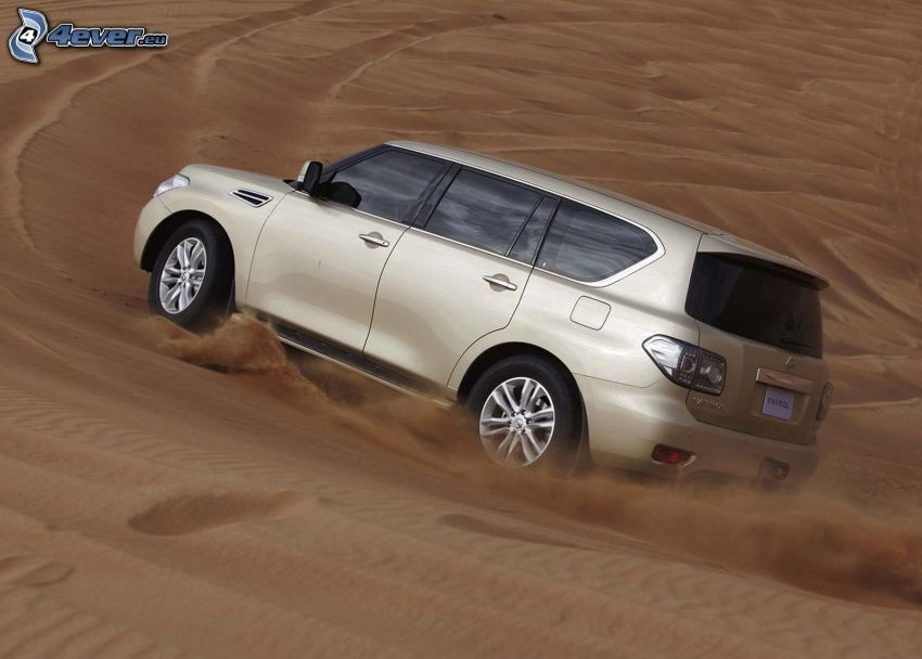 Nissan Patrol, sand, damm