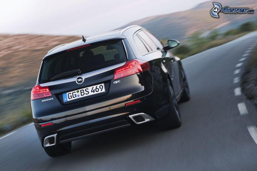 Opel Insignia OPC, fart, väg, kurva