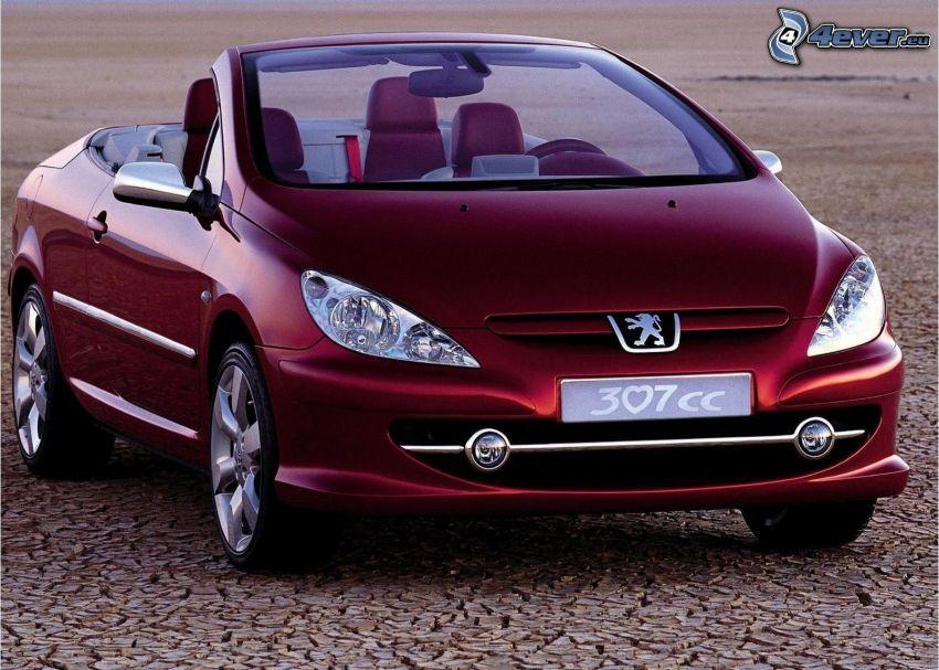 Peugeot 307 CC, cabriolet, torr jord