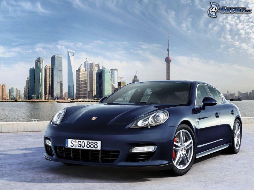 Porsche Panamera, New York, skyskrapor