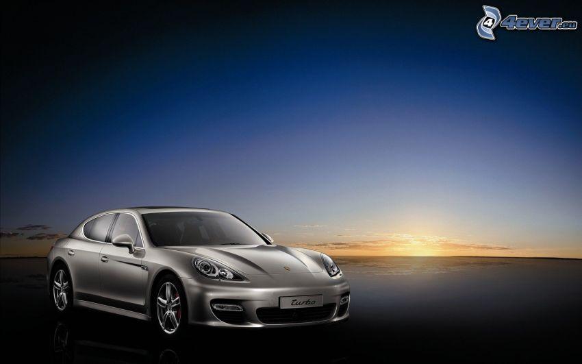 Porsche Panamera Turbo S, solnedgång
