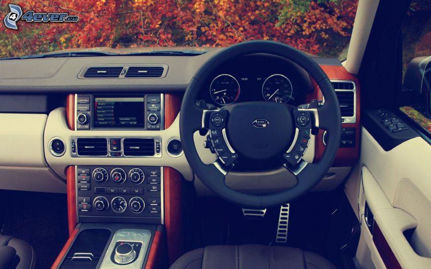 Range Rover, interiör, ratt