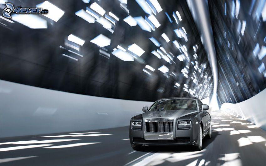 Rolls Royce, tunnel, fart