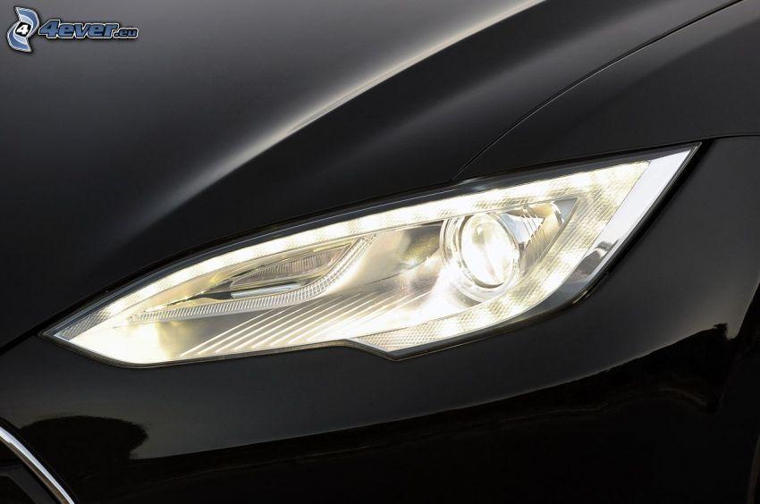 strålkastare, Tesla Model S