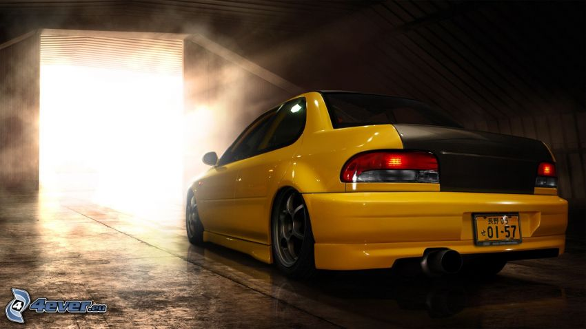 Subaru Impreza, garage