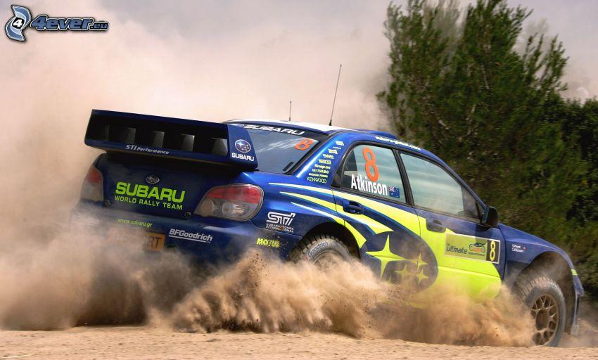 Subaru Impreza WRC, rally, damm