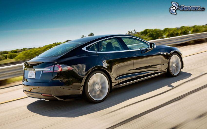 Tesla Model S, elbil, fart