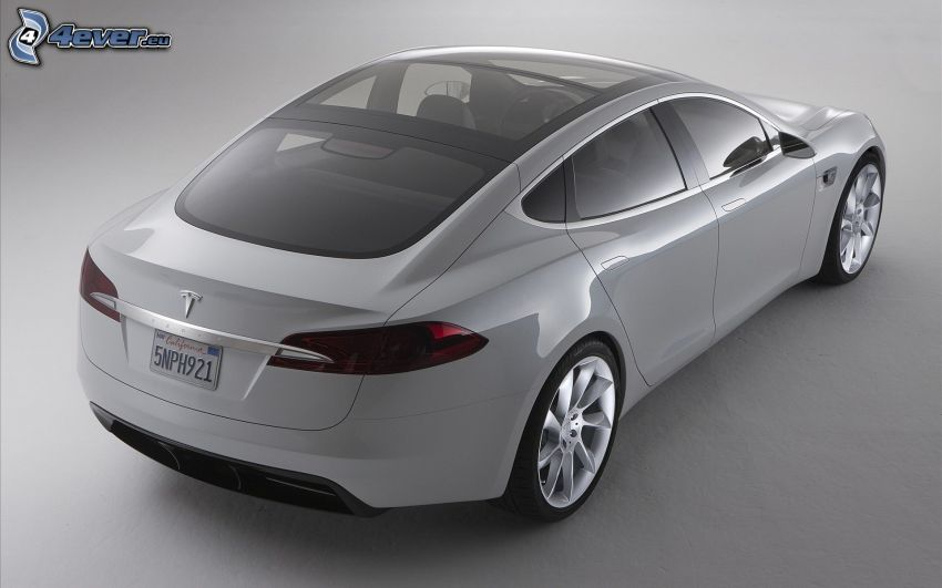 Tesla Model S, koncept, elbil, panoramatak, lyx