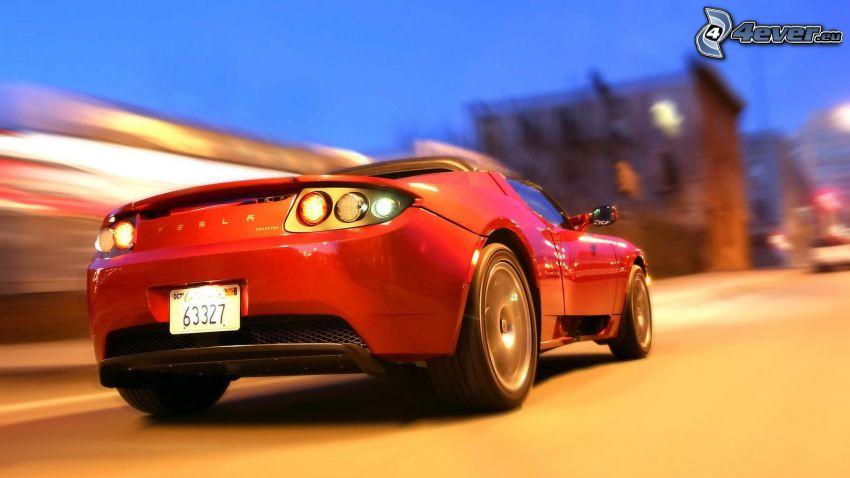 Tesla Roadster, fart, stad