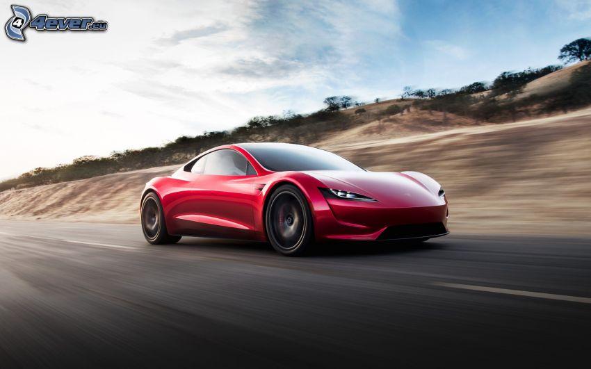 Tesla Roadster 2, fart
