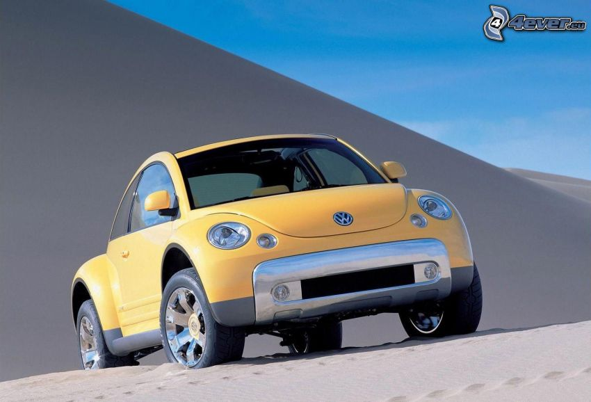 Volkswagen Beetle, sand