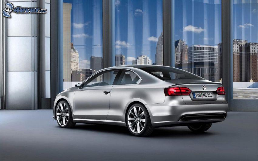 Volkswagen Compact, fönster, byggnader