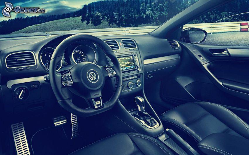 Volkswagen Golf, interiör, ratt, instrumentbräda