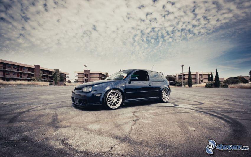 Volkswagen Golf, parkering, moln