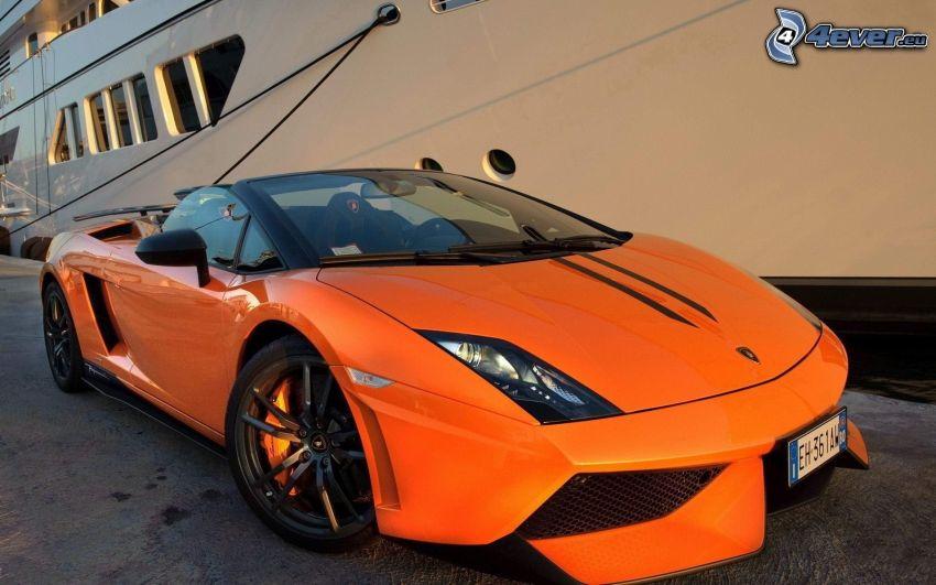 Lamborghini Gallardo Spyder, cabriolet, båt