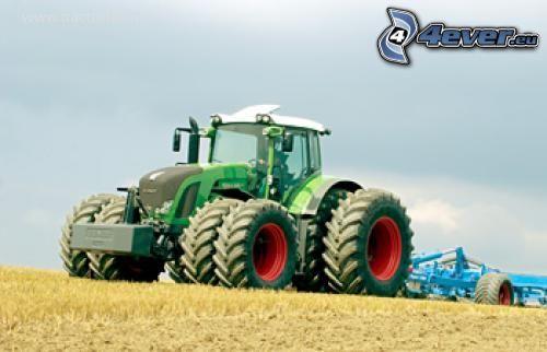 Claas Lexion 600, traktor på fält, skörd