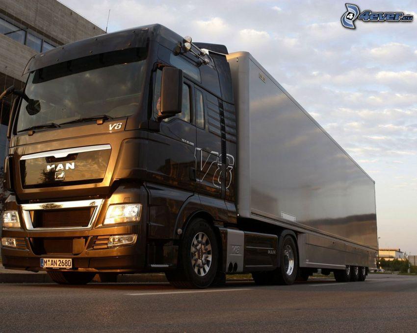 MAN V8, lastbil, truck