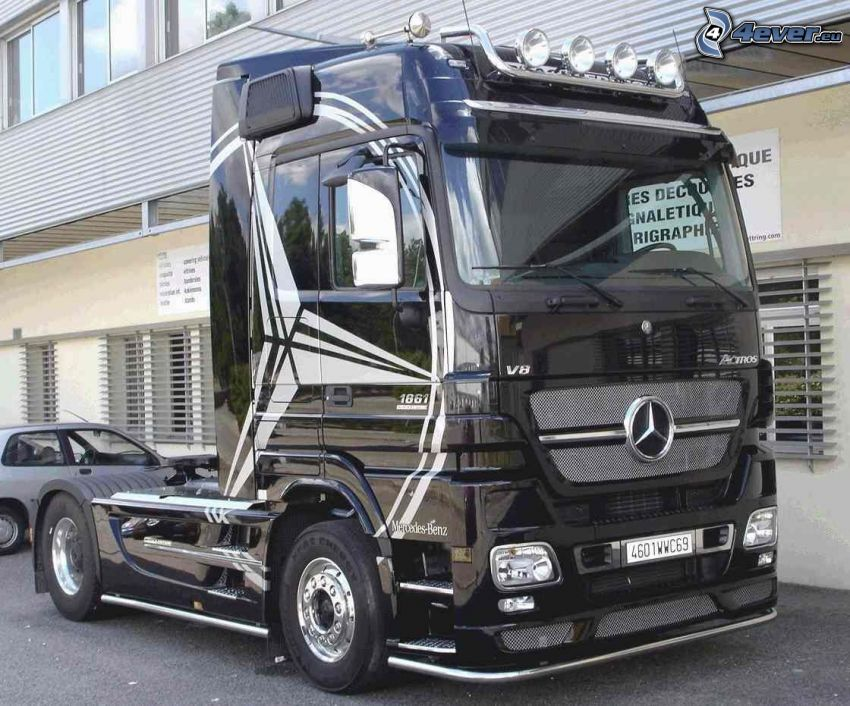 Mercedes, truck, lastbil