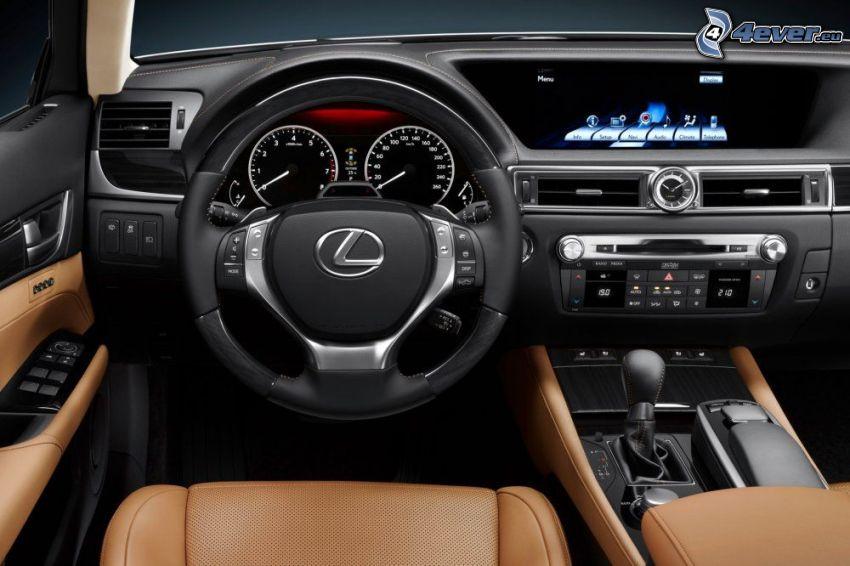 Lexus GS 350, ratt, instrumentbräda