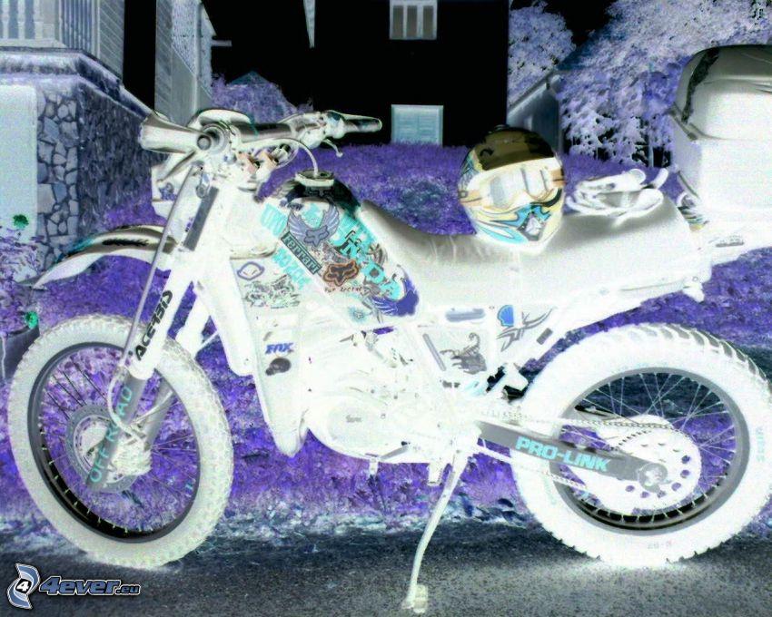 motorcykel, motocross, hjälm