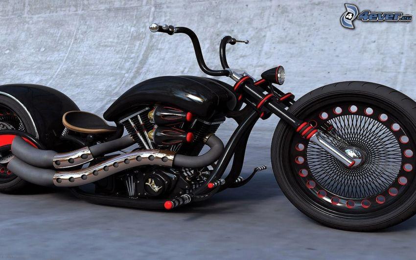chopper, motorcykel