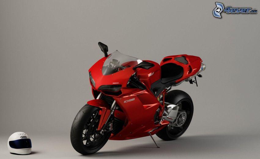 Ducati, motorcykel, hjälm