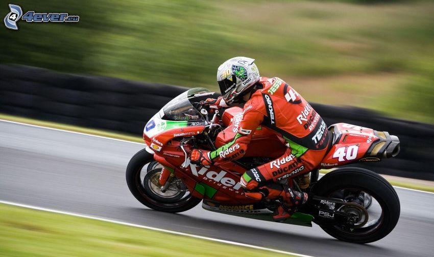 Ducati, motorcykel, motorcykelförare, fart