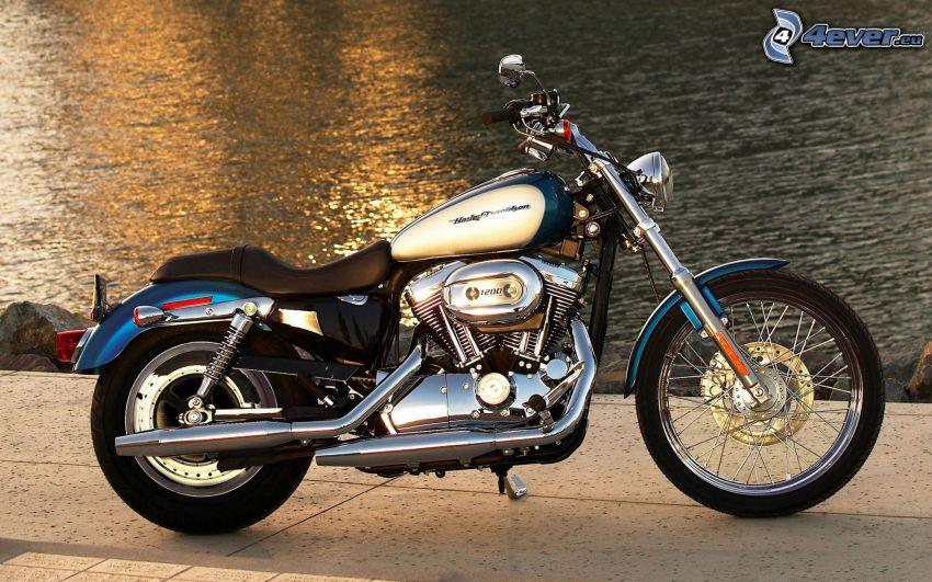 Harley-Davidson, motorcykel, vatten