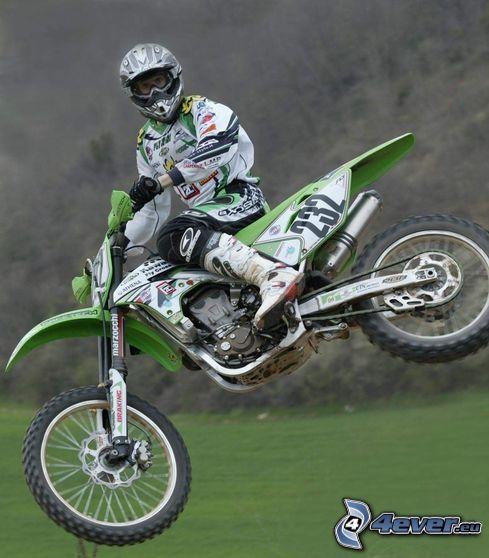 hopp på motorcykel, motocross, motorcykel