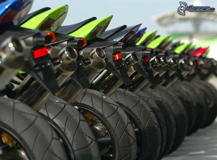 Moto GP, motorcyklar, hjul