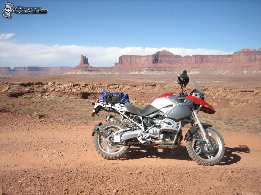 motorcykel, Death Valley, USA, öken