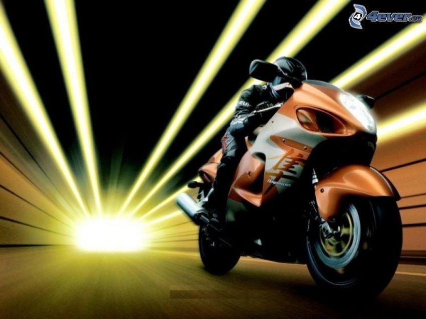 motorcykel, ljus