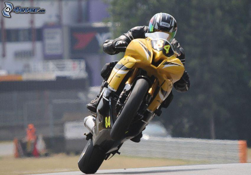 motorcykel, motorcykelförare