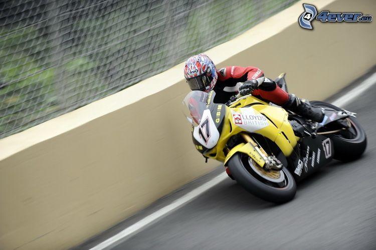 racer, motorcykel, fart