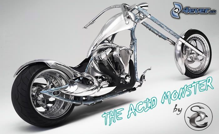 The Acid Monster, chopper, motorcykel