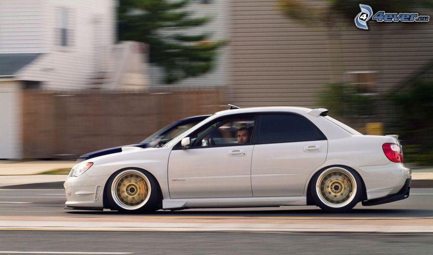 Subaru Impreza WRX, lowrider, fart