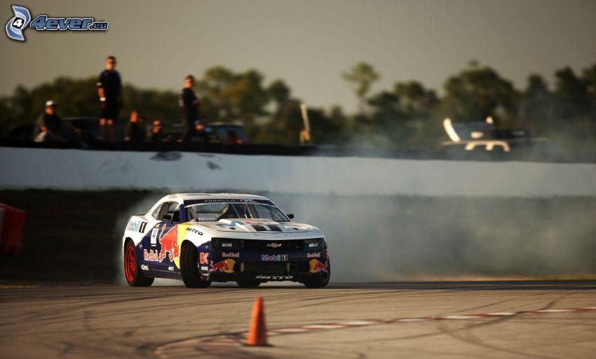 Chevrolet Camaro, drifting, rök
