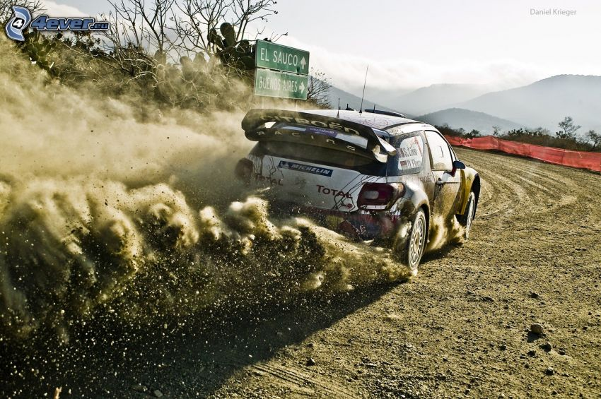 Citroën DS3, rally, damm
