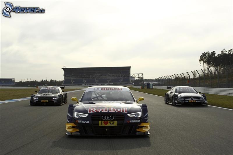 lopp, Audi, BMW, Mercedes, racerbil, racerbana